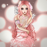 Pink Rose angel by Janjanita