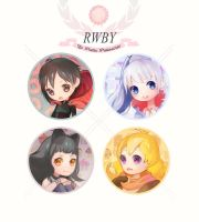 RWBY badges by tanhuitian