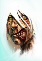 Zombie girl with video by orochi-spawn