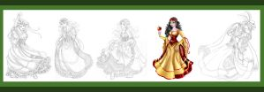 Snow White Sketches by Paola-Tosca