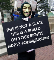 This is not a slate This is a shield on ur rights by OpGraffiti