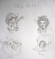Tokio Hotel Chibis by karovie