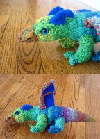 Rainbow Dragon Plushy by sunhawk