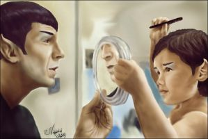 Spock and S'Bren by Nagini-snake