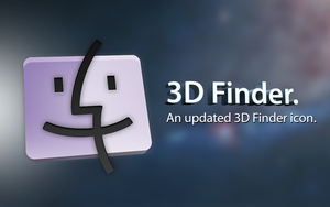 3D Finder Icon by osullivanluke