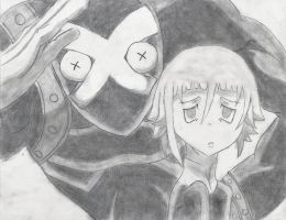 Corona and Ragnarok- Soul Eater by buttercups7273