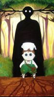 Over the garden wall - Oil paint by Abakura