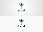 Peacock Coctail Logo by DianaGyms