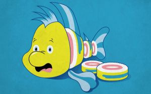 Flounder Sushi T-shirt Design by alsnow
