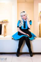Blue Maid - Maiddress - White Alice by GeniMonster