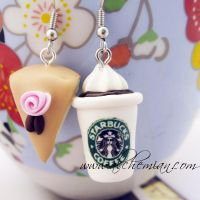 Starbucks handmade earrings by AlchemianShop