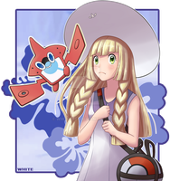 Lillie and Rotomdex by WHITE2701