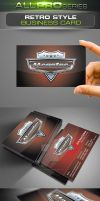 Retro Style Business Card by ravirajcoomar