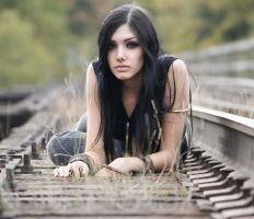 Erin at the Tracks 1 by KelseyBudgell