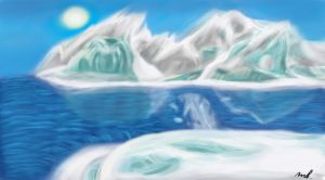Speed Paint Practice 1: Arctic Crystals by xchainlinkx