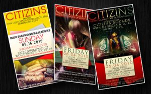 CITIZINS EVENT FLYERS by truthdondie