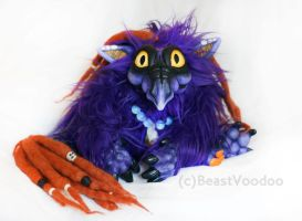 Midnight the baby dragon doll by BeastVoodoo