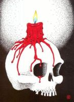 Candle Skull by Frankentrina