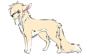Light Cream and White Wolf Adoptable - CLOSED by Lill-Devil-Melii