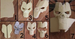Darksiders 2 Death Cosplay Crafting (Mask 1) by MEG-Cosplay