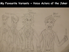 My Favourite Variants + Voices of DC's Joker by spyaroundhere35