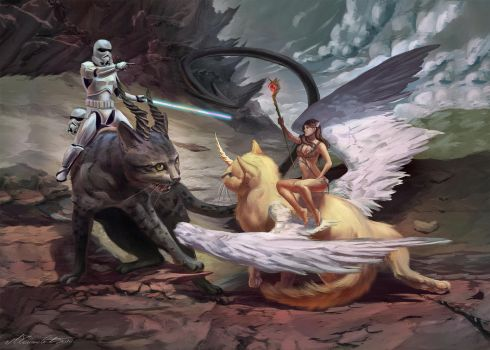 Commission: Cat wars by MilicaClk