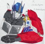 Optimus Prime and ObsidianEmpress - Colored by ObsidianEmpress