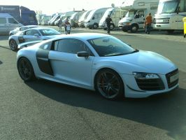 Audi R8 GT white right side by SWAT316