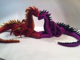 Dragon Couple by FlightofFancyThings
