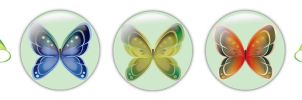 Butterfly Icon Set by Astorix