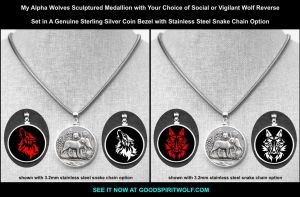 Alpha Wolves with Social or Vigilant Wolf Reverse by GoodSpiritWolf