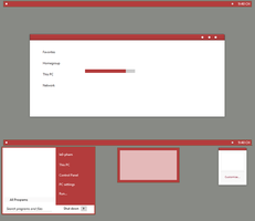 Red Mod Minimal 8.1 by Cleodesktop
