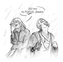 Anakin does like the rain by Faeliscity
