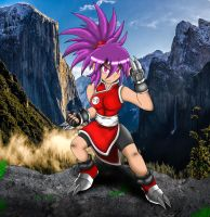 Sarah the Pyschic Fighter by DarkWindLightning5