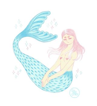 Lovely mermaid by middlehouse