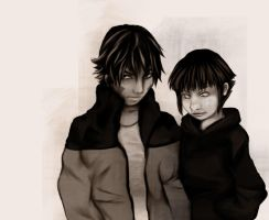 WIP Kiba and Hinata by English-Pirate