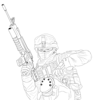 Private Wade Scetch by Yankeestyle94