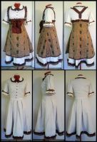 Commission: Brown Dr. Who Lolita Dress by Antiquity-Dreams