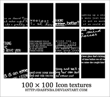 100x100 Icon text textures by DasfnBa