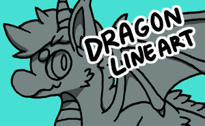 20 Point Dragon Lineart by MGMaguire