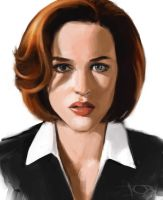 Gillian Anderson sketch by tonyob