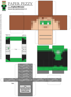 Paper Pezzy- Green Lantern 'Minecraft' by CyberDrone