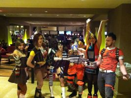 The Whole Borderlands Gang Anime USA 2012 by SailorDerp