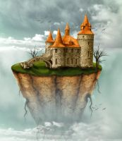Floating Island in Photoshop by Designslots
