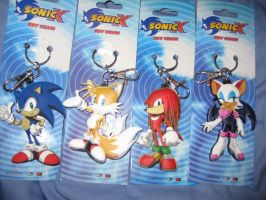 Sonic keychains by sonic-fan-guy