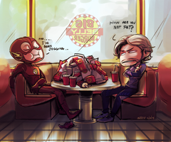 Meanwhile at Big Belly Burgers by DarkLitria