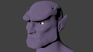 Goliath's face WIP by Warrior-Silverbolt