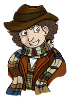 Fourth Doctor Doodle by MystSaphyr