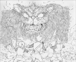 Monster-cat---before-coloring by NORIMATSUKeiichi