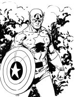 Captain America commission by MarcLaming